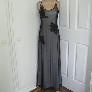 Vintage Rimini long dress, black/grey, NWOT, Sz 4
